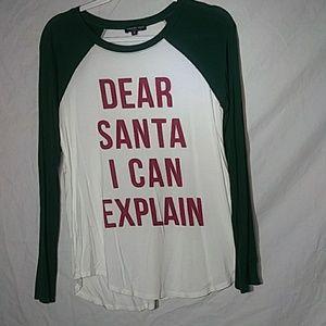 "Fashion nova long sleeve ""dear santa i can explain"